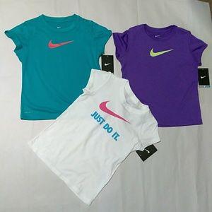 Youth Girl' Nike Dri-Fit T_Shirts Bundle, Size: 6X